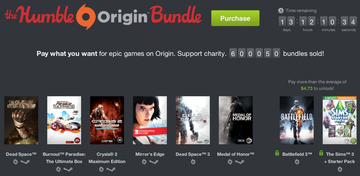 Humble bundle origin steam 00